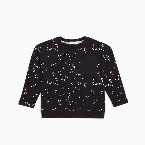 Black Sesame Seeds Crew Neck Sweater