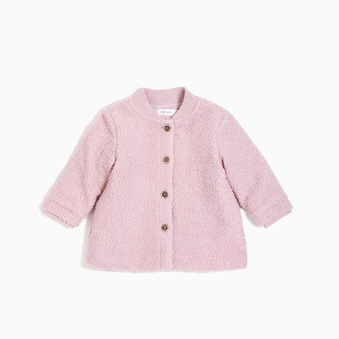 Dusty Pink Faux-Sherpa Jacket