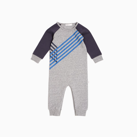 Heather Grey Blue Track Playsuit