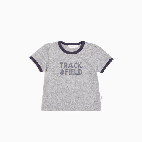 "Heather Grey ""Track & Field"" T-shirt"