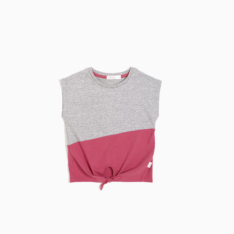 Dusty Pink Sleeveless T-shirt