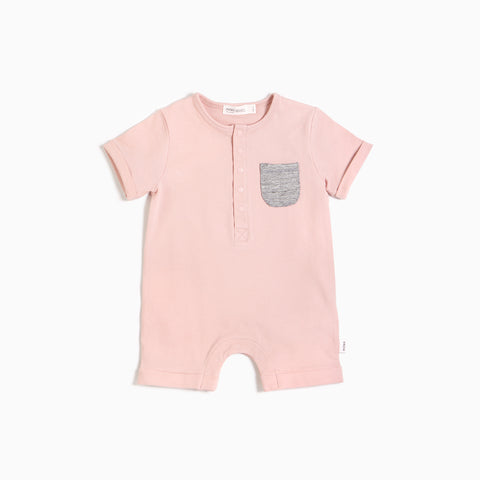 ''Miles Basic'' Light Pink Romper
