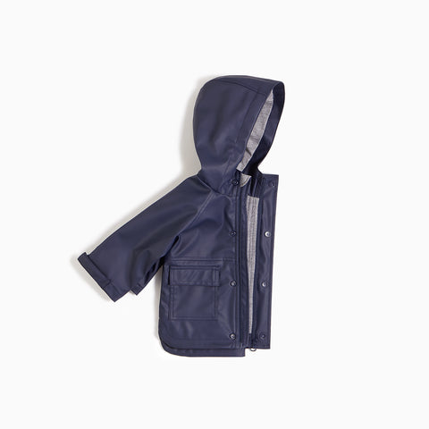 ''Miles Basic'' Navy Anorak Jacket