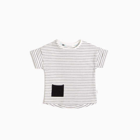 Yarn-Dye Black Striped T-Shirt