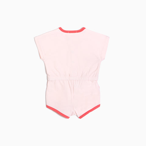 Light Pink Ringer Romper (3M - 24M)