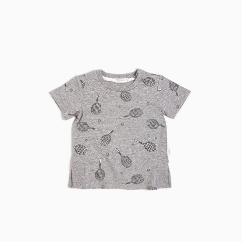 Heather Grey Racquet T-shirt
