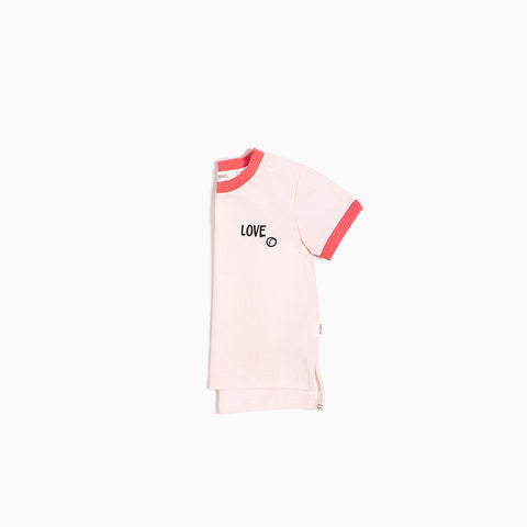 Light Pink ''Love Tennis'' Ringer T-shirt