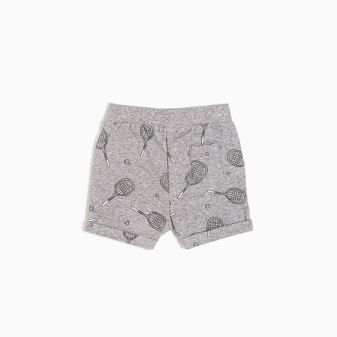 Heather Grey Racquet Shorts (3M - 24M)