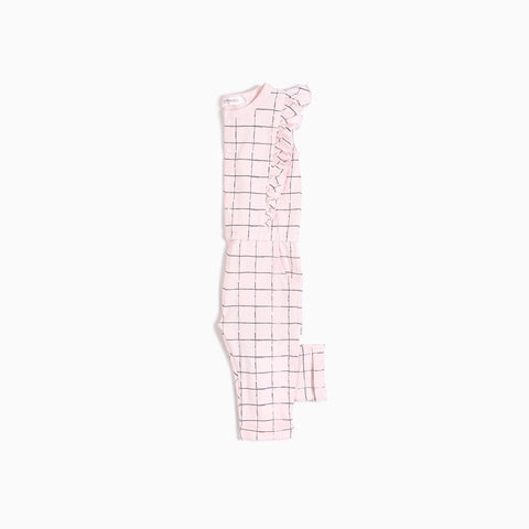 Light Pink Tennis Net Playsuit (3T - 7T)