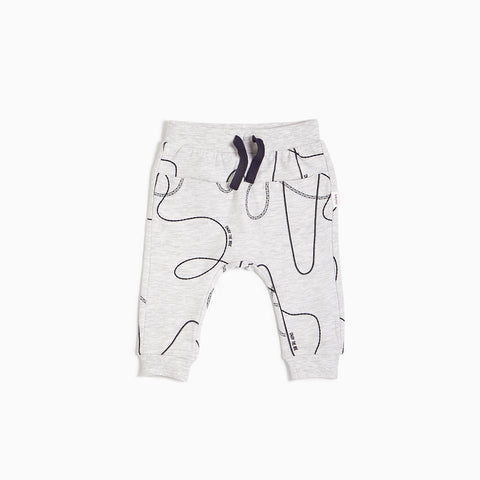 Light Heather Grey Tracks Jogger (3M - 24M)