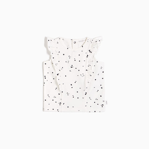 Off-White Sparkler Ruffled Tank