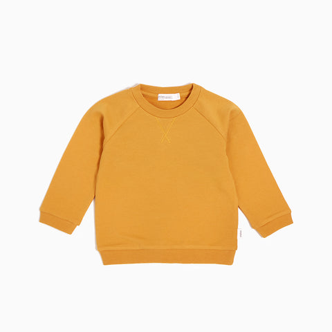 ''Miles Basic'' Mustard Sweater
