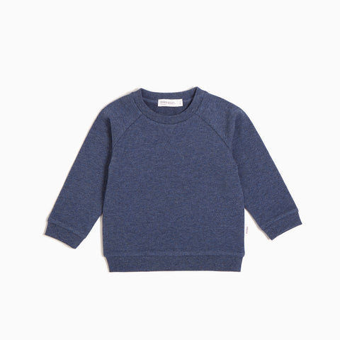 ''Miles Basic'' Marled Blue Sweater