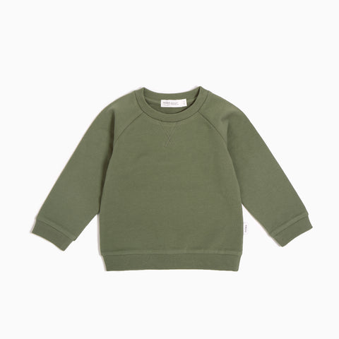 ''Miles Basic'' Olive Sweater