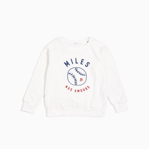 Nos Amours Print Off-White Terry Sweatshirt