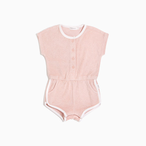 Girls Blush Terry Cloth Romper