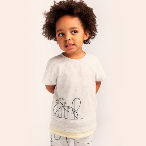 Light Heather Grey Roller Coaster T-Shirt