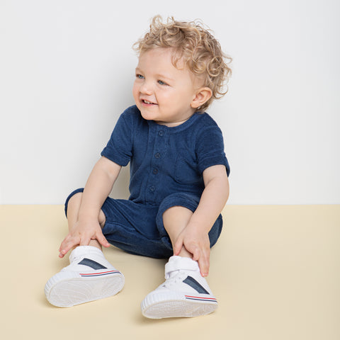 Boys Bleu Terry Romper