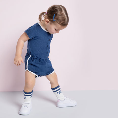 Girls Bleu Terry Cloth Romper
