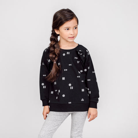 "Black ""Play/Replay"" Ruffled Sweater"