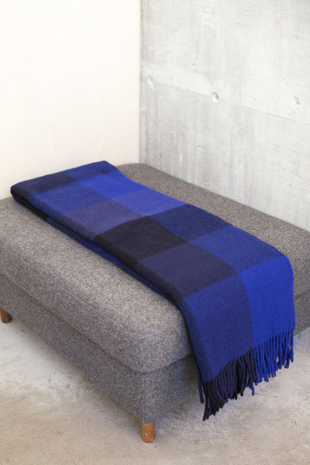 Checker Fringe Blanket