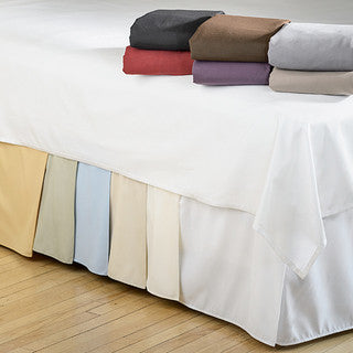 "Clearance Full XL Tailored 18"" Bone Bed Skirt - Bed Linens Etc.  - 1"