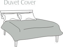 Cal King Duvet Cover 50% Cotton 200 Thread Count - Bed Linens Etc.  - 1