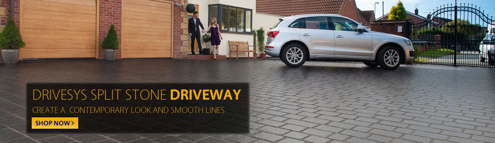 Drivesys Split Stone Driveway. Create a contemporary look and smooth lines