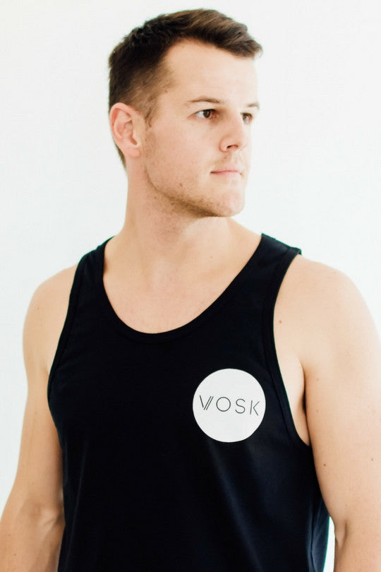Mens Circle Logo Vest Black