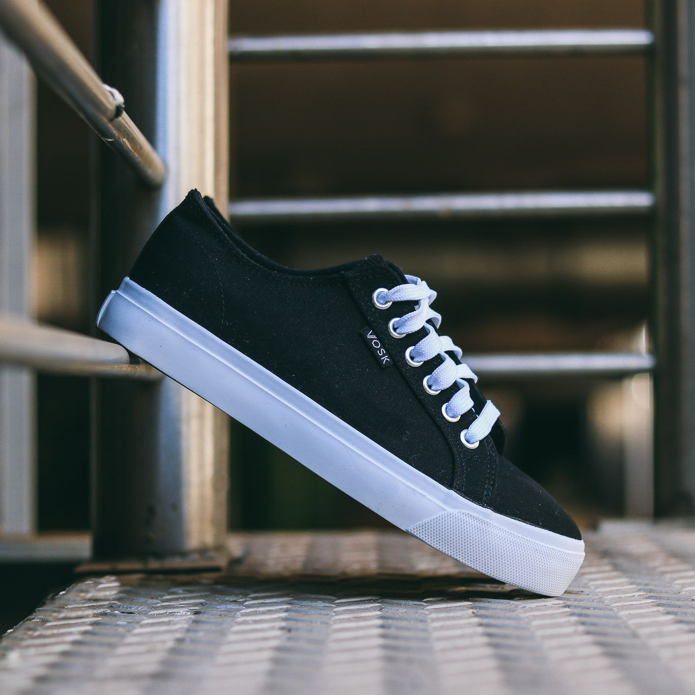 The Authentic, VOSK original sneaker design, is a unisex simple low top shoe, lace-up with durable canvas upper, metal eyelets and our original Imprint Africa outsole. Grab your travel bags and get ready to #imprintafrica wherever you go. South Africa footwear brand.