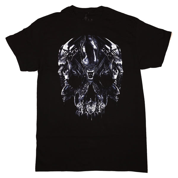 Alien Xenomorph Skull Montage T Shirt Adult Unisex Sizes S to 3XL
