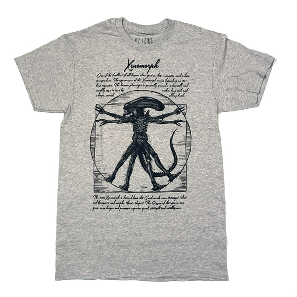 Alien Vitruvian Xenomorph Da Vinci T Shirt Adult Unisex Sizes S To 3XL