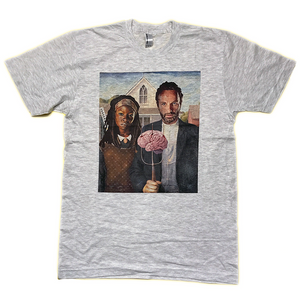 The Walking Dead Rick and Michonne American Gothic T Shirt