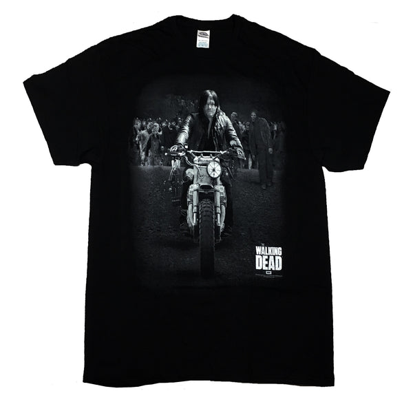 The Walking Dead Daryl Dixon Leading Walkers T Shirt Adult  Unisex Sizes S to 3XL