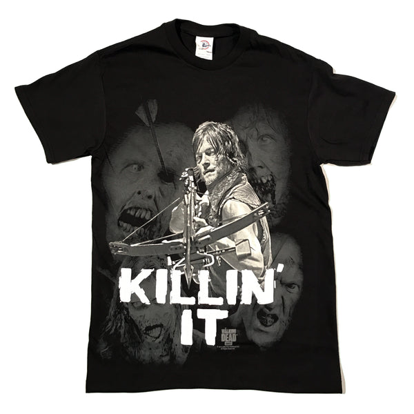 The Walking Dead Daryl Dixon Killing It T Shirt Adult Unisex Sizes S to 3XL