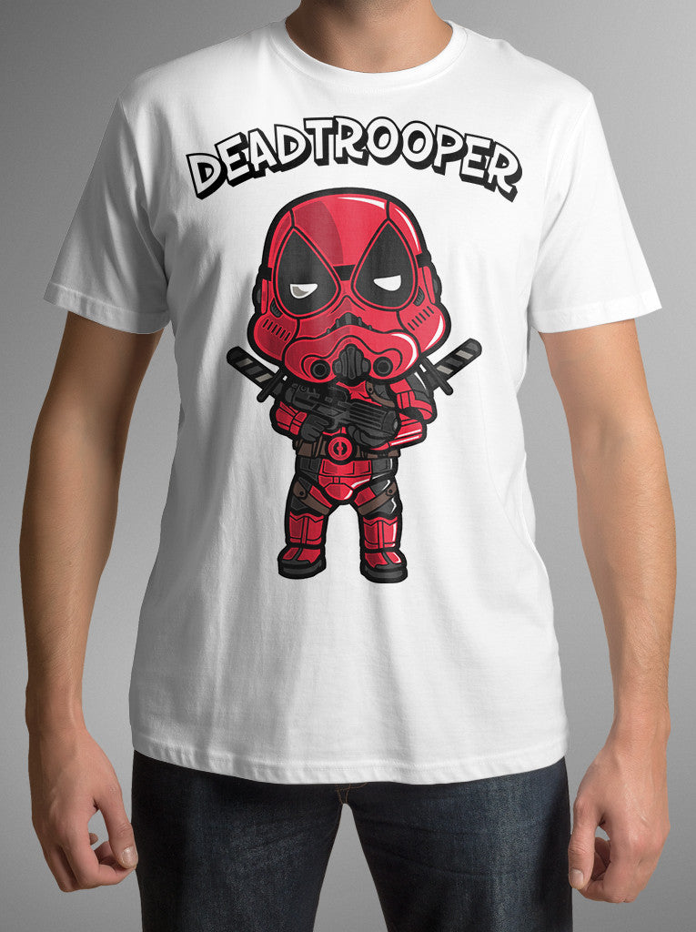 "Star Wars Deadpool Parody T-Shirt ""Dead Trooper"" S to 3XL men's shirt sizes"
