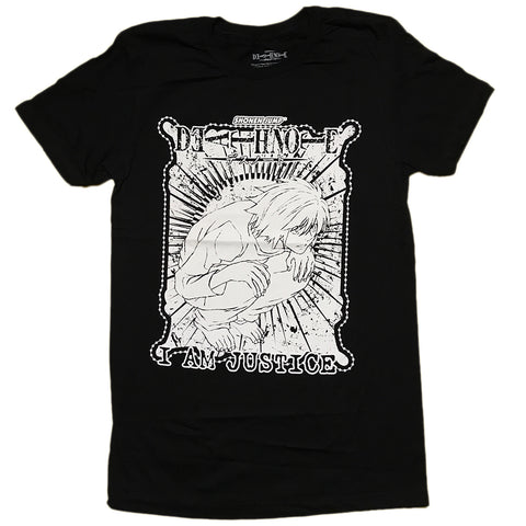 "Death Note ""I Am Justice"" Anime Adult Unisex T- Shirt"