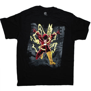DC comics T-shirt , The Flash , 100% Cotton Tee, S to 3XL men's sizes