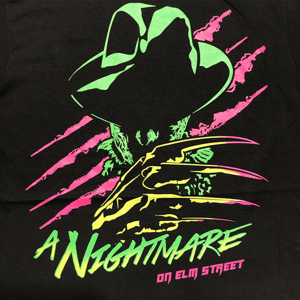 A Nightmare On Elm Street Freddy Krueger Retro Neon T Shirt Adult Unisex Sizes S to 3XL