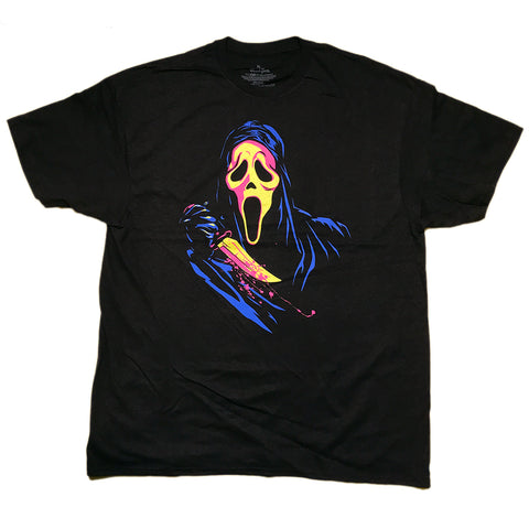Ghostface Scream Retro Neon T Shirt Adult Unisex Sizes S to 3XL