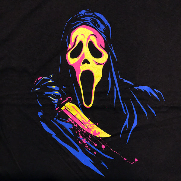 Ghost Face Scream Retro Neon T Shirt Adult Unisex Sizes S to 3XL