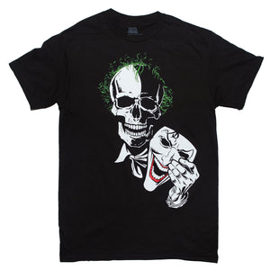 DC Comics The Joker JOKER  SKULL HOLDING MASK T Shirt