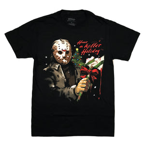 Friday the 13th Jason Voorhees  HAVE A KILLER HOLIDAY T Shirt Adult Unisex Sizes S to 2XL