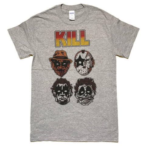 Kill Freddy Jason Leatherface Michael Myers Kiss Horror Parody T Shirt