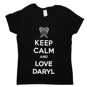 The Walking Dead Love Daryl Dixon Ladies T-shirt'. S to 3XL
