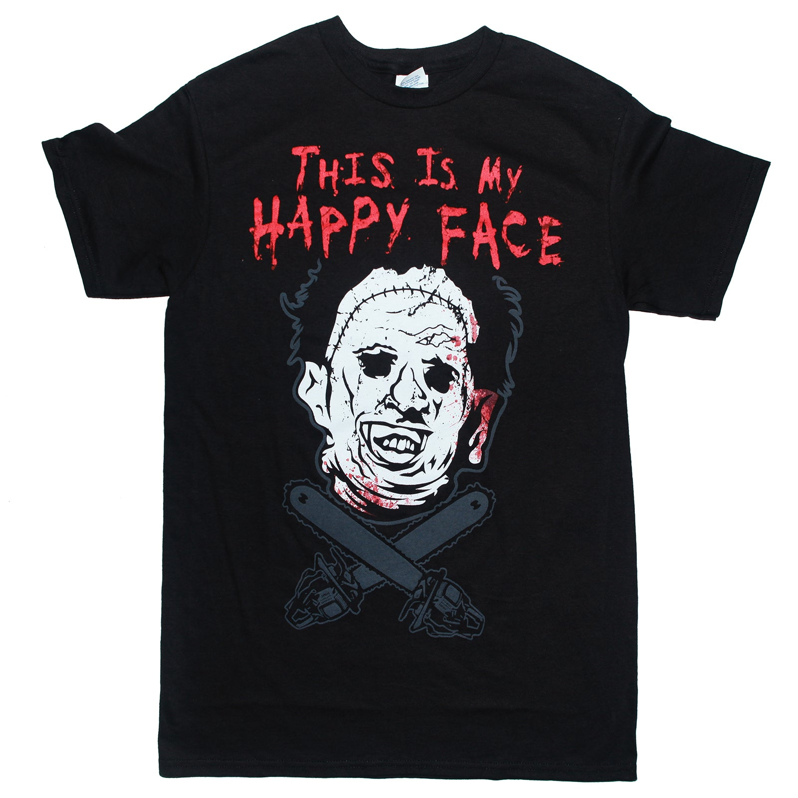 The Texas Chain Saw Massacre LEATHERFACE HAPPY FACE T Shirt