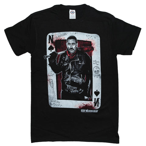 The Walking Dead NEGAN PLAYING CARD T Shirt Adult Unisex Sizes S to 3XL