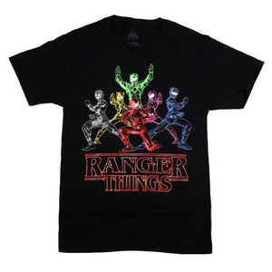 Power Rangers Ranger Things Mashup T Shirt Adult Unisex Sizes S to 3XL