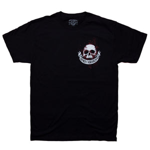 Sons of Anarchy Scroll and Skull Outlaw Double-sided T-Shirt