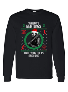 The Walking Dead Negan Ugly Christmas Long Sleeve Shirt Sizes S to XL